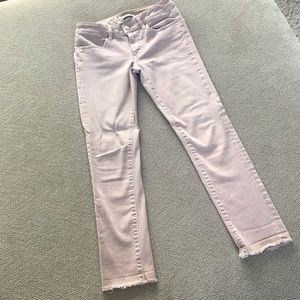American Eagle Pink Cropped Jeggings sz 4